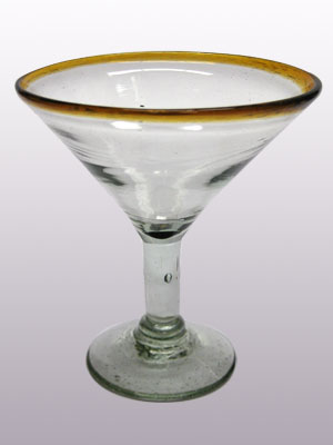 Wholesale Amber Rim Glassware / 'Amber Rim' martini glasses  / This wonderful set of martini glasses will bring a classic, mexican touch to your parties.