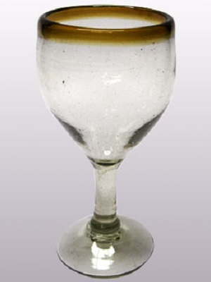 / 'Amber Rim' wine glasses