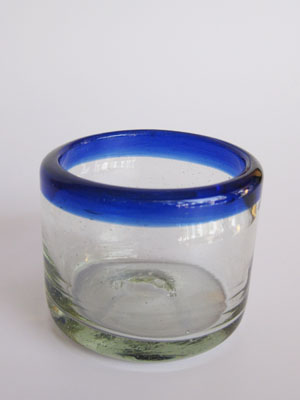/ 'Cobalt Blue Rim' sipping glasses