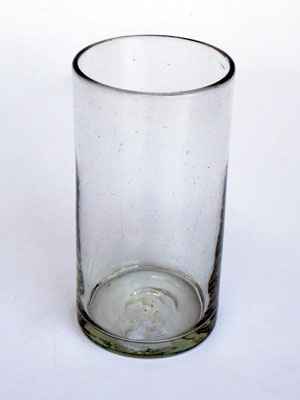 Wholesale Colored Glassware / Clear tall iced tea glasses  / This classic set of iced tea glasses is made of recycled glass. Tiny bubbles are trapped within the glass.