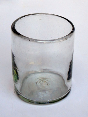 / Clear blown glass tumblers