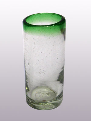 / 'Emerald Green Rim' Tequila shot glasses