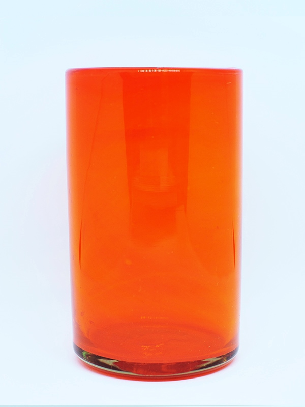 MEXICAN GLASSWARE / Solid Orange drinking glasses