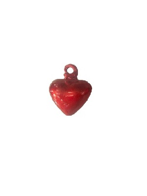 MEXICAN GLASSWARE / Red Blown Glass Hanging Hearts Small