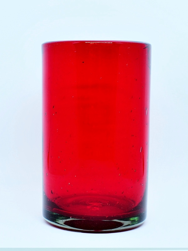 Wholesale Colored Glassware / Solid Ruby Red drinking glasses  / These handcrafted glasses deliver a classic touch to your favorite drink.